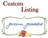 Custom Listing for Samantha A.
