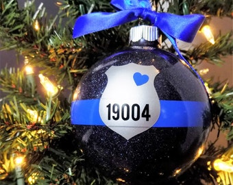 Police ornament  Etsy