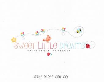 photography logo baby shop logo bird logo design ladybug logo design flower logo design bee logo design premade logo design boutique logo