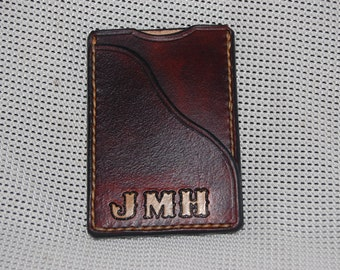 card holder. 100% real leather. handmade  hand stitched