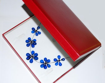 Jewelry Gift Box Leather Box For Ring Pendnt Necklace High Quality Jewelry Gilded Box