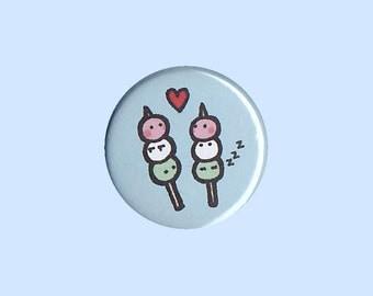 Sweet Dango Badge - dango pin, sweets pin, Japanese badge, kawaii pin, kawaii button, dessert button, cute food, Japanese button