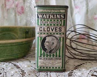 Vintage Watkins Cloves Tin