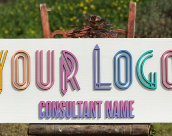 Your Logo/Custom Business Sign/Laser Cut/ Consultant Signs/Pop Up Boutique/Business Sign/Consultant/Pop Ups/Unicorn/3D Sign
