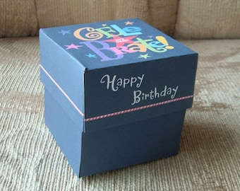 Celebrate Happy Birthday Gift Box Templates DIY Pattern PDF Instant Download