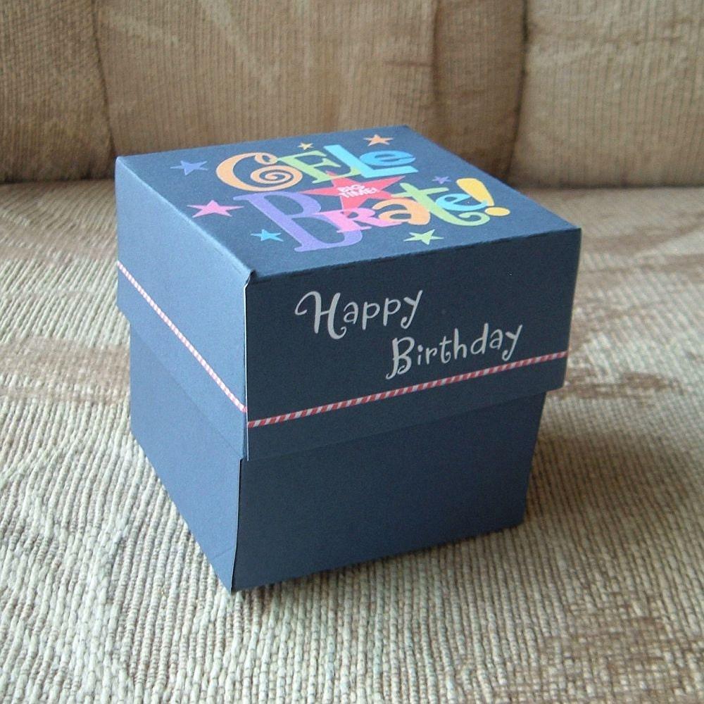 Celebrate Happy Birthday Gift Box Templates DIY Pattern PDF
