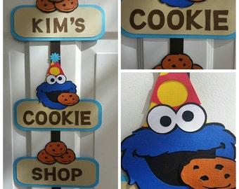 Cookie Monster Welcome Door Sign, Cookie Monster Door Sign, Cookie Monster Welcome Sign, Cookie Monster Sign, Cookie Monster Birthday