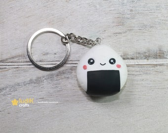 Kawaii onigiri key chain (FIMO)