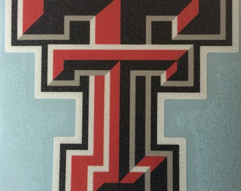 "Texas Tech,  3"" Premium Die-Cut Vinyl Decal, Set of 2, Yeti"