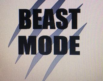 Beast Mode Iron On / iron on beast mode / beast mode decal / beast mode
