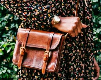 Michaela Handcrafted Leather Satchel