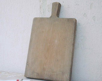 Vintage French wooden breadboard or cutting board- XL