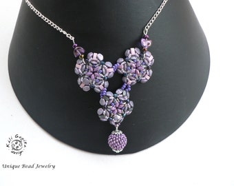 """Beaded necklace """"Frostwork"""""""