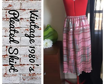 Vintage 1980's pleated skirt- size 10