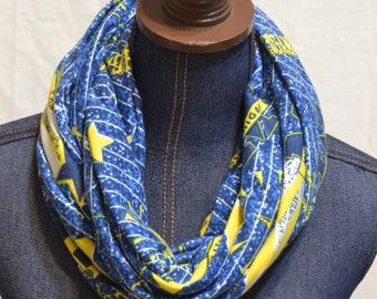 University of Michigan / U of M Jersey knit Infinity scarf