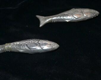 Pewter Fish Salt and Pepper Set
