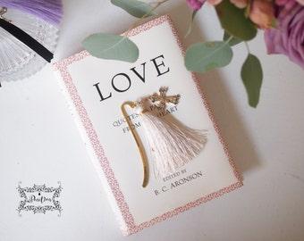 Romantic Cross Gold Bookmark