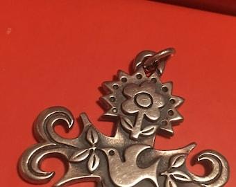 "James Avery La Primvera Cross 1 11/16"" 925 Sterling Silver and gift box"
