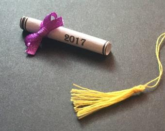 """1.5"""" Graduation Diplomas with 1/8"""" Ribbon BOWS"""
