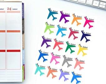 Book Flight Planner Stickers! Perfect for your Erin Condren Life Planner, calendar, Paper Plum, Filofax!