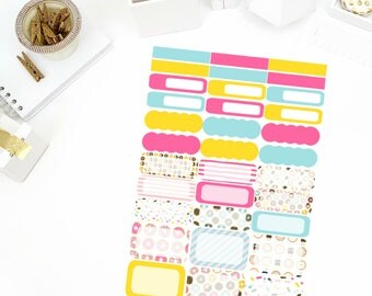 Donut Worry Functional Stickers! Perfect for your Erin Condren Life Planner, calendar, Paper Plum, Filofax!