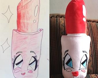 Turn Drawings into Stuffed Toys, Custom Stuffed Animals from Drawing, Stuffed Animal Drawing, Custom Plush Toys from Drawing, Doodle Plush