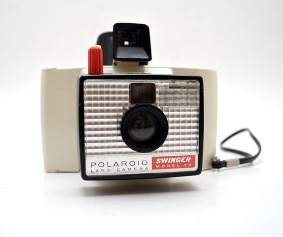 Model Land Movie: Vintage Polaroid Land Camera, Swinger Model 20, Instant