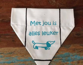 Dogscarf // Dogbandana // Dogaccessories // Animals // For sparkling dogs & Happy people // Doxy // Dachshund // Teckel