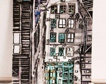 Map postal Decorative painter Mélanie Bernard of the harmony collection