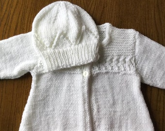 Baby Girl White Cardigan to fit 0-3 months