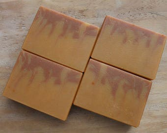 Red Maple Leaf, Cold Process Soap, Olive Oil Soap, Shea Butter Soap, Handmade Soap