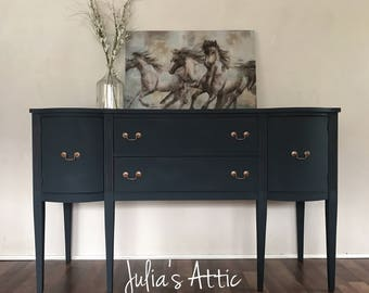 Sold- if your looking for something similar please message me for details! Gorgeous navy blue sideboard/buffet