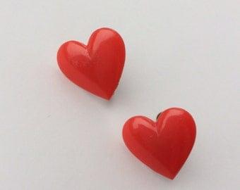 1950s Vintage heart Valentine's earrings