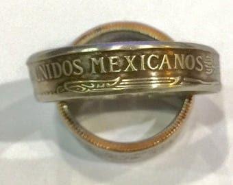 1 Mexican Peso Coin Ring Vacation Keepsake