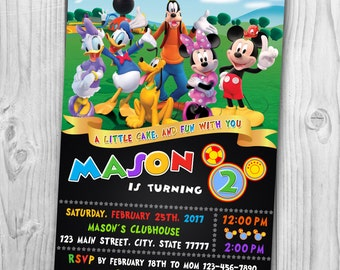 Mickey Mouse Clubhouse Invitation -  Mickey Mouse Clubhouse Birthday Party - Mickey Mouse Clubhouse Printable