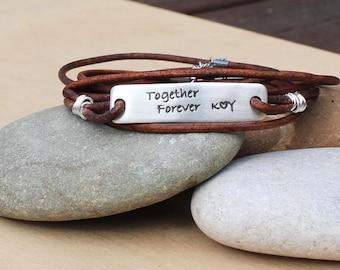 message bracelet custom stamp bracelet husband custom gift husband to be gift for husband wedding gift husband silver bracelet man dad gift