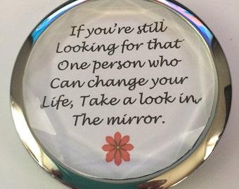 pocket mirror-inspirational pocket mirrow message