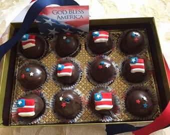 Patriotic Cake Bites