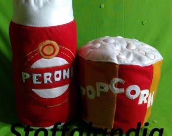 Pillows beer and Popcorn gift idea