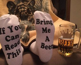 Drinking Socks for Men - Bring me a beer socks - gag gifts for men