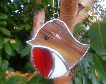 Stained glass robin. Made to order