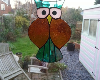 Stained glass owl made to order
