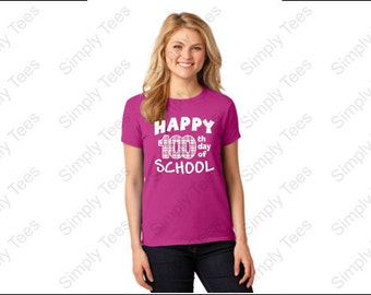 100 Day School Shirt, 100th day of School Shirt, Happy 100th Day, Short Sleeve 100th day, Long sleeve 100th day, 100th day hoodie, school