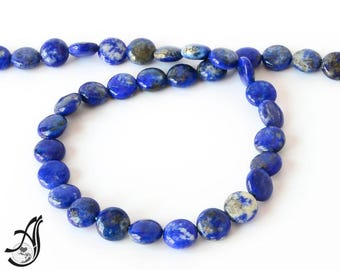 Lapis lazuli  Coin Plain 10 mm mm Exceptional.  top Quality  mm,16 inch ,blue color,100% Natural , best Color,Most creative,