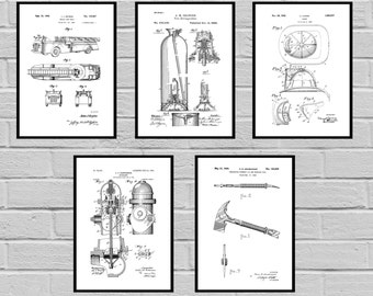 Firefighter Patents prints, Firefighter Poster, Firefighter Art, Firefighter Decor, Firefighter Wall Art, Gift, Firefighter gift, sp428
