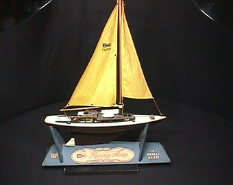 Vintage Eldon Racing Loop Toy Sailboat that Really Sails in it's Original Box, and Ready to Use