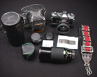 Minolta Model XD II with Auto Winder & Case 35 mm Camera with Extras Ready to Use all made in Japan
