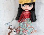 Dress/dress/Hat/Cap/clothing/clothes for doll/doll Pullip, Tangkou, Blythe