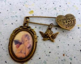 brooch love my Angel