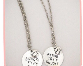 You're the Snooki to my JWOWW hand stamped BEST FRIENDS necklace